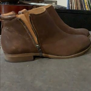 Franco sarto Short brown ankle boots